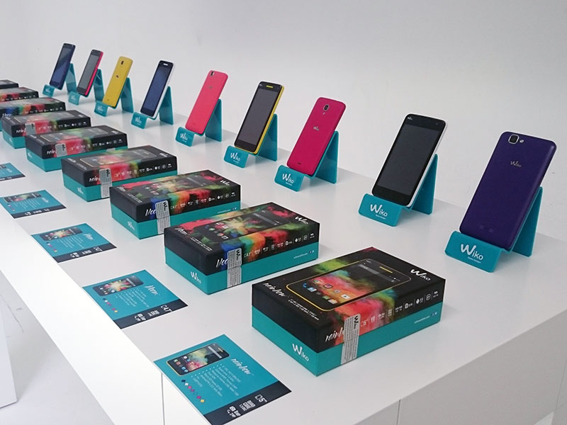 Product launch for WIKO smarthphones 1
