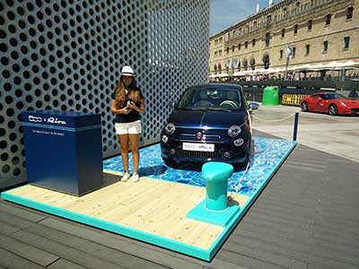 Stand production for Fiat 500
