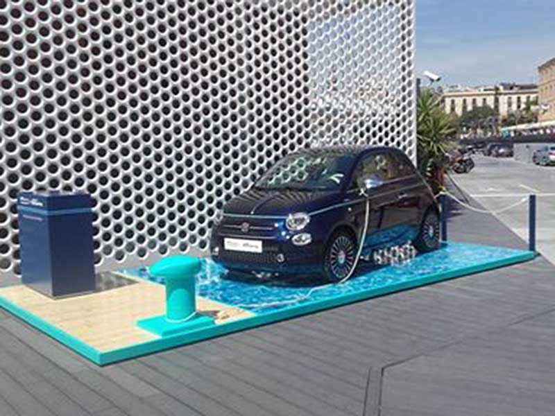 Stand production for Fiat 500 2