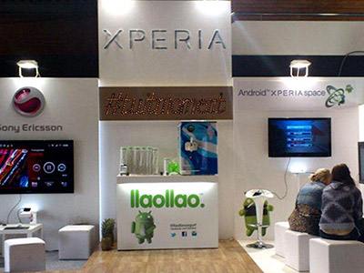 Stand for Sony Ericsson at EBE 2011