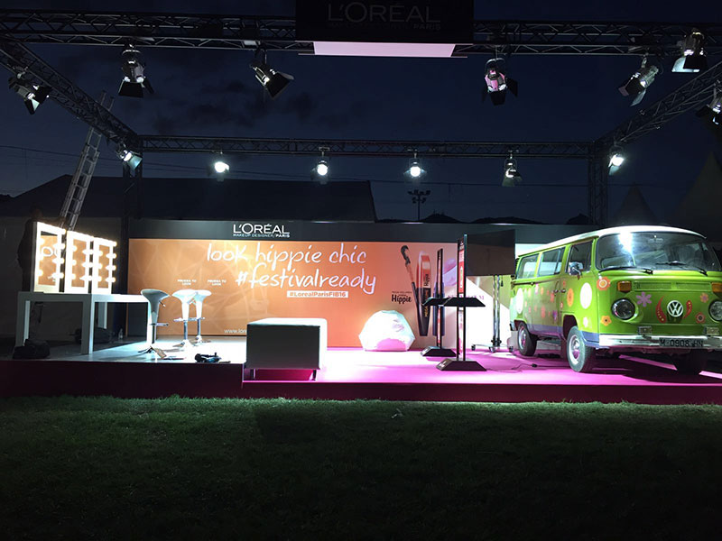 Stand for L'Oréal Paris at Benicassim Festival 2