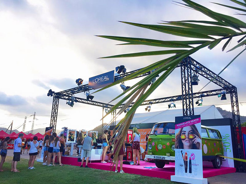 Stand for L'Oréal Paris at Benicassim Festival 3